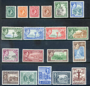 Jamaica 1938 Definitives & 1945 New Constitution to 2sh mint l.h.(2021/03/05#10)