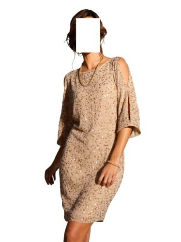 Marques Soirée Party 0114336529 Gr Robe Beige 38 Or De 36 rEw7rqFA