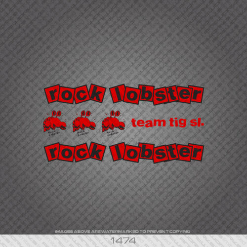 Red Transfers Decals 01474 Rock Lobster Bicycle Stickers