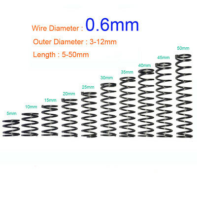 SN-T Wire Dia 0.5mm OD 3-6mm Length 5 to 50mm Helical Compression Spring