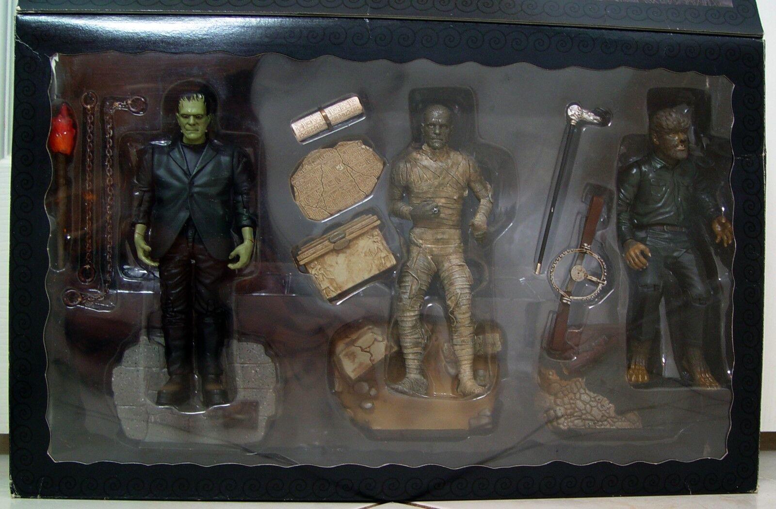 Sideshow Collectibles Frankenstein Momia y el lobo color figura Box set 2018