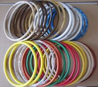 Lot Of 15 Pairs Assorted Color 8 Round Plastic Macrame Purse Handles Craft Ring
