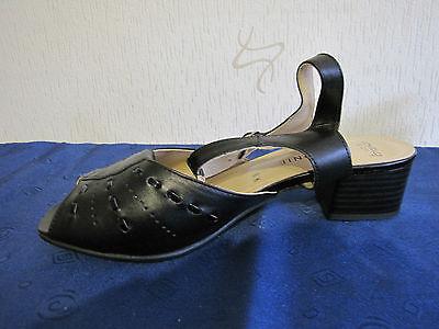 Damenschuhe Sandalen Gr. 39 Schwarz Leonie