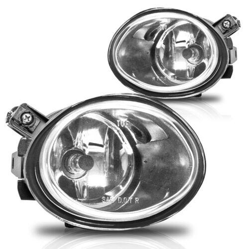 01-05 BMW E46 M3 /& 00-03 E39 M5 Fog Lights Pair Set Lens w//Bulbs Clear