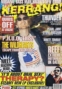 WILDHEARTS  THERAPY  THUNDER Kerrang no 544 May 6 1995 - <span itemprop=availableAtOrFrom>Bournemouth, United Kingdom</span> - Returns accepted Most purchases from business sellers are protected by the Consumer Contract Regulations 2013 which give you the right to cancel the purchase within 14 days after the  - Bournemouth, United Kingdom