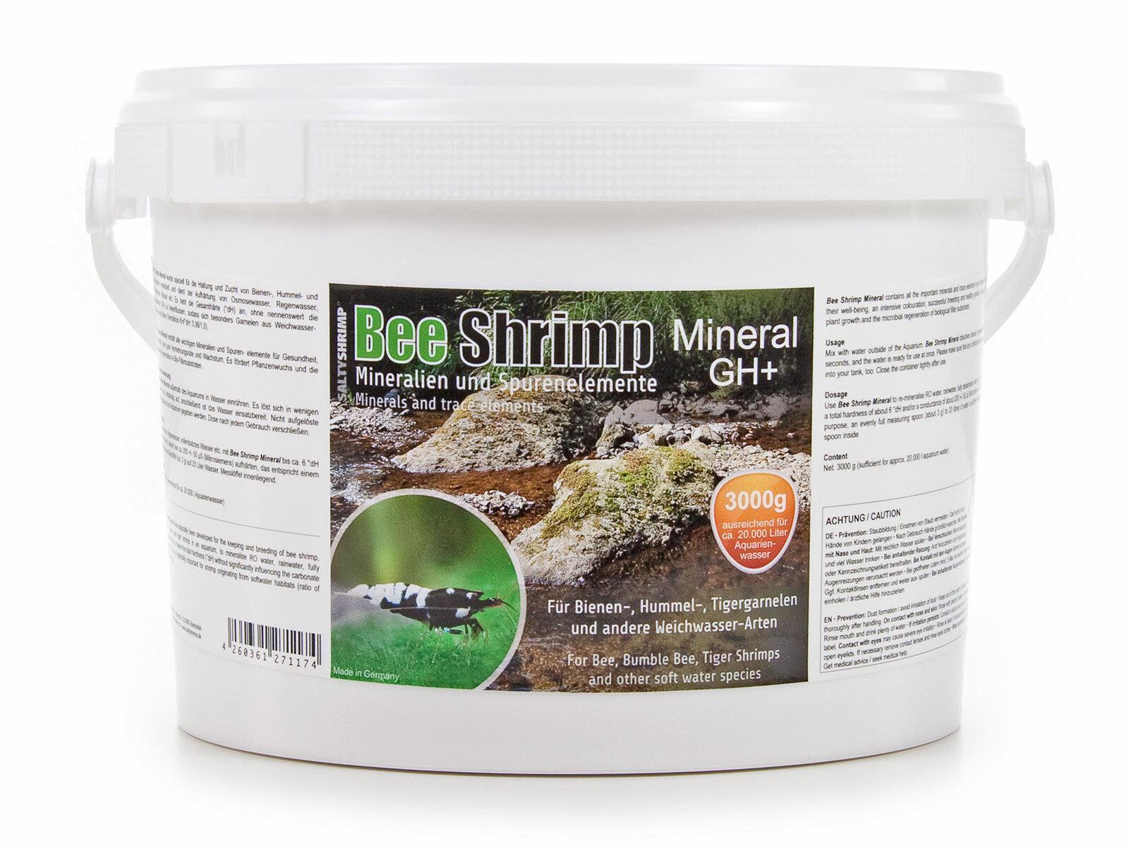 kg saltyshrimp Bee Shrimp GH minerale , 3000g 3kg Salty Shrimp