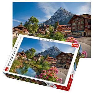 Trefl-2000-Piece-Adult-Large-Summer-Scenery-Alps-Hill-Greenery-Jigsaw-Puzzle-NEW