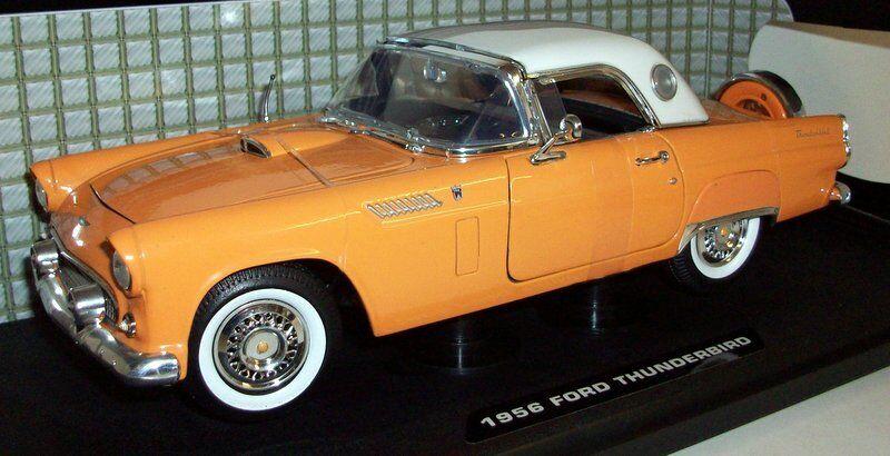 Fuxi double à, viens! Motormax 1/18 scale - 73176 1956 ford thunderbird jaune/blanc | Soyez Bienvenus En Cours D'utilisation