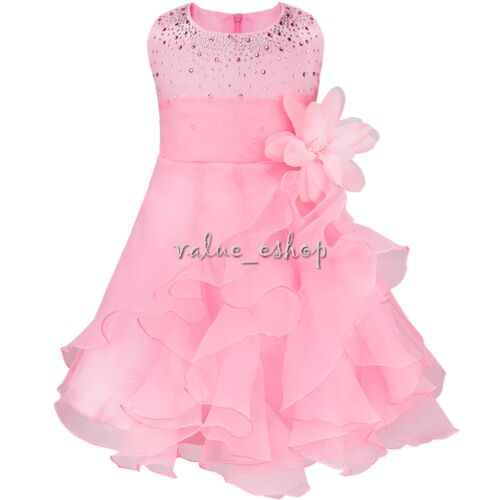 Flower Girl Dress Birthday Party Pageant Wedding Party Formal Princess Bow Gown