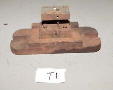 Vintage Punch Press Tooling Die Shoe Frame Industrial Metal Working Jewelry T1