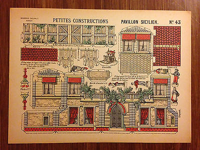 "Self-Conscious Decoupage Ancien ""pavillon Sicilien"" Antique (pre-1930)"