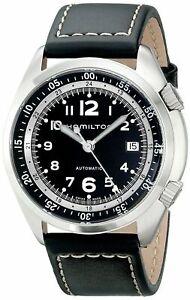 Hamilton-Men-039-s-Khaki-Aviation-Pioneer-Automatic-Black-Leather-Watch-H76455733