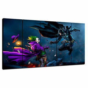 Stretched CANVAS Wall Art Print Picture *Choose your size BATMAN THE JOKER