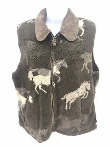 Vintage Horse-Print Vest