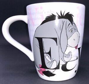 Disney-Store-Eeyore-16-oz-Coffee-Mug-Cup-Winnie-The-Pooh-White