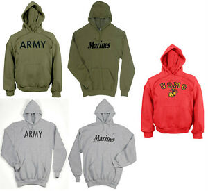 61ea4999 Image is loading Rothco-Military-Physical-Training-Pullover-Hooded- Sweatshirt-Army-