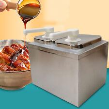2 Heads Stainless Squeeze Condiment Dispensing Pump Station Sauce Pump Dispenser