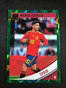 2018-19-Panini-Donruss-Soccer-Marco-Asensio-Spain-Madrid-163-Green-Press-Proof
