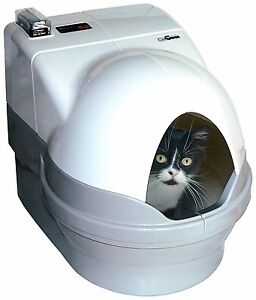 Self-Cleaning-Litter-Box-DOME-and-SIDEWALLS-ONLY-White-Privacy-NEW