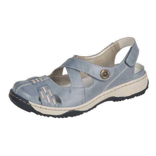 Rieker sandalias de de de cuero sandalias zapatos señora zapatos azul Gr. 36-42 47478-12 neu2  ventas en línea de venta