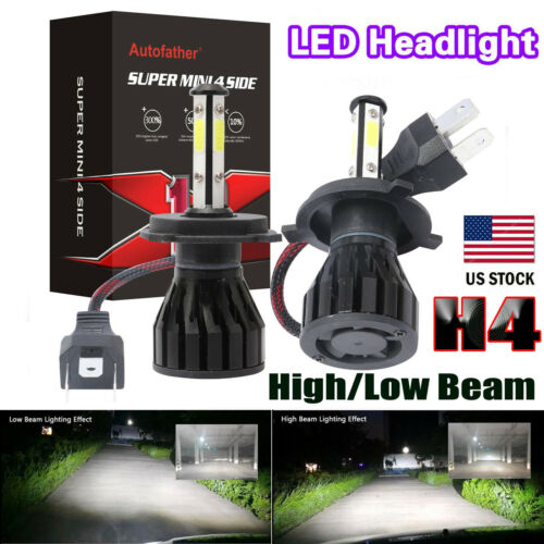 2Pcs H4 9003 HB2 LED Car Headlight Lights Conversion Bulbs Beam Kit  880W 6000K