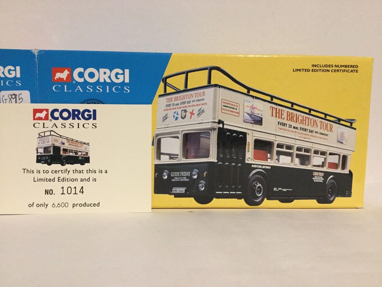 Corgi 33501 Guide Friday Leyland Atiantean open top bus LTD Edit No 1014 of 6600