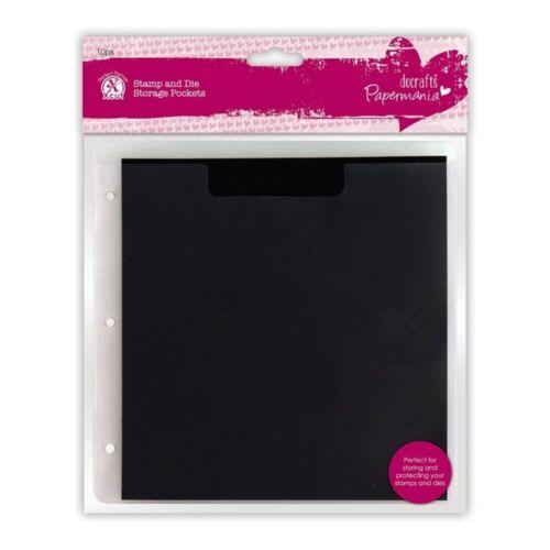 10pk Papermania Pack de plástico Sello /& Die Bolsillos De Almacenamiento Con Cuña Magnética