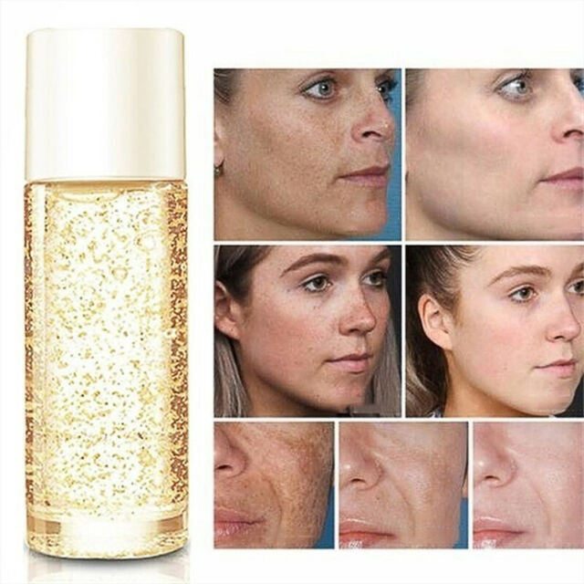 24k Gold Facial Skin Care Anti wrinkle Anti-Aging Face Essence Serum Cream Women