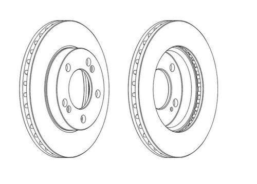 2x NEUF de la marque Ferodo frein avant Disc-DDF1627-garantie de 12 mois!