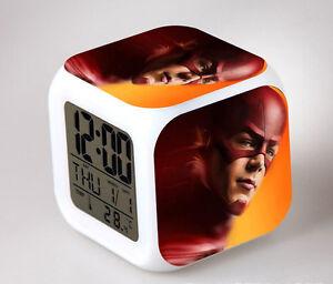 Jurassic Park Cosplay LED 7 Colors Change Night light Colorful Kids Alarm Clock