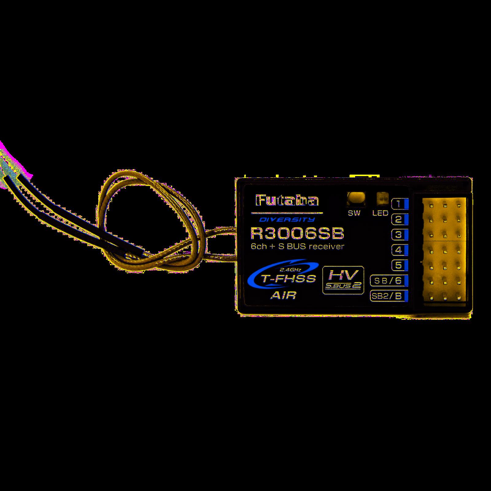 S-Bus HV 2.4GHz R3006SB Futaba R3006SB  6 Channel Receiver T-FHSS