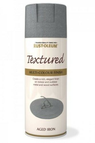 TEXTURED AGED IRON RUST-OLEUM Spray texture & feel Paint Aerosol 400ml