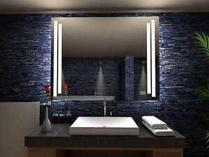 """Miroir lumineux LED salle de bain """"Havre"""", LED illuminé,éclairage ..."""