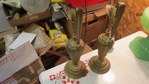 2-Antique-Metal-Ewers-Pair