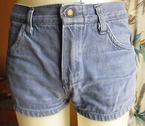 27 Waist True Vtg 70s Low Rise Sexy Denim Hot Disco Womens Shorts