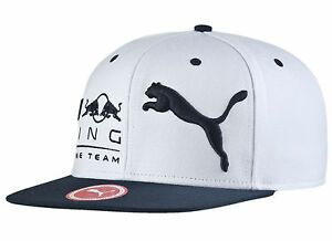 AUTHENTIC PUMA RED BULL RACING F1 TEAM BLOCK SNAPBACK CAP WHITE ... 809aca67686