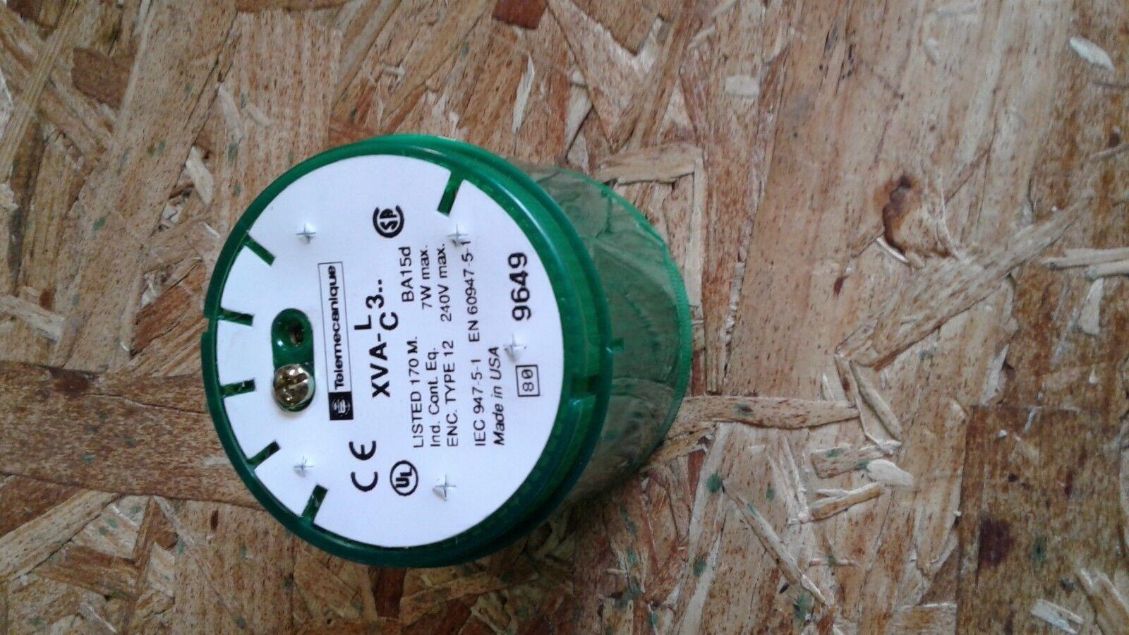 TELEMECANIQUE XVAC331 GREEN LIGHTSTACK BEACON LENS 28046 NEW CONDITION IN BOX