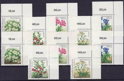 Beliebte Marke 1991 Rennsteig Mi. 1505-09 ** Ecke 2 Zähnung A+b Luxus!