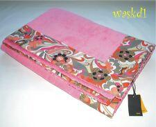 FENDI pink TERRYCLOTH signature Floral border BEACH Towel Blanket NWT Authentic!