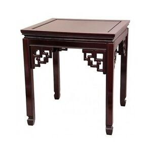 Rosewood End Table Oriental Chinese Ming Square Accent Living Room Furniture New Ebay