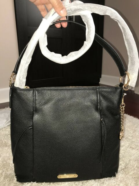 db61561f6b76 Michael Kors Corinne Leather Black LG Shoulder Handbag for sale ...