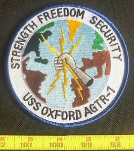 US Military US NAVY SHIP PATCH USS OXFORD AGTR-1 Embroidered Iron On Patch
