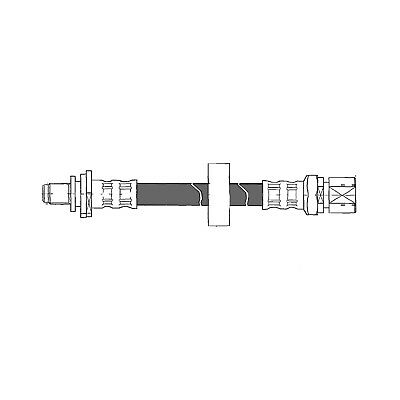 Brake Hydraulic Hose Rear Left Centric 150.38306