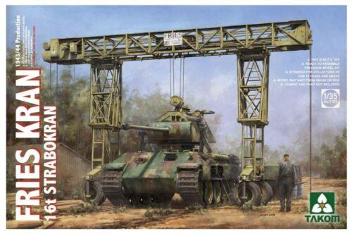 NEW Takom 1//35 German Army Fries Kran 16t Strabokran 1943-44 Model Kit Japan