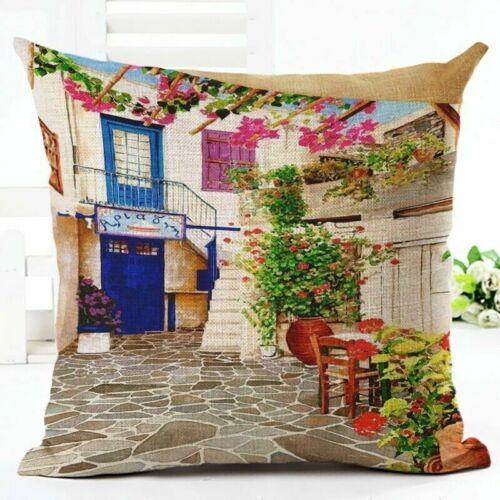 Pillow Case Square European 18x18 Inches Landscape City Home Decor Decorative