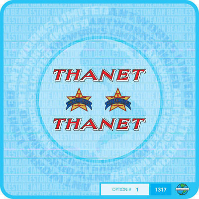 Thanet Set 1 Stickers Bicycle Decals Transfers