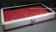 1 Wholesale Locking Aluminum Red 72 Ring Display Portable Storage Box Case