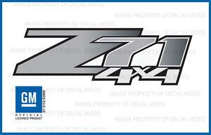 Z71 4x4 GMC Sierra 07-13 Decals Stickers Truck Red Black Fade GRBLKRD set of 2