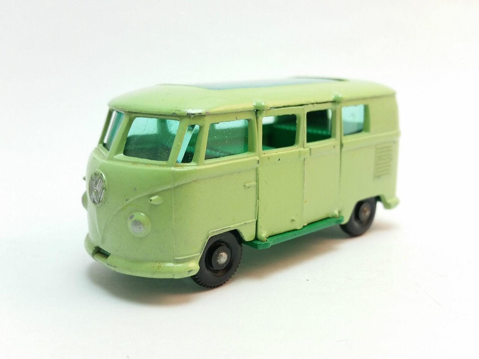 Matchlåda Lesney 1 -75 Series 34b Grön Volkswagen bilavette Sällsynt FINE BPW Nr Mint