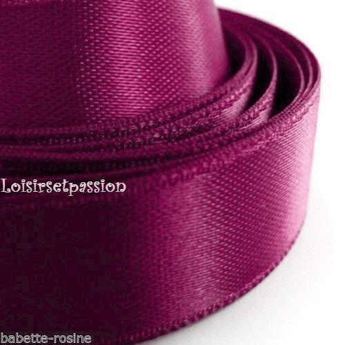 Nombreux Coloris Scrapbooking Bijoux ROULEAU 10 mètres RUBAN SATIN UNI 6 mm